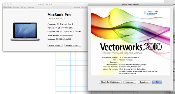 VectorWorks on Mavericks